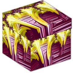Yellow Magenta Abstract Fractal Storage Stool 12