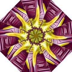 Yellow Magenta Abstract Fractal Hook Handle Umbrellas (medium) by Nexatart