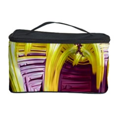 Yellow Magenta Abstract Fractal Cosmetic Storage Case by Nexatart