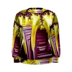 Yellow Magenta Abstract Fractal Women s Sweatshirt