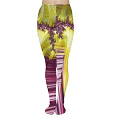 Yellow Magenta Abstract Fractal Women s Tights