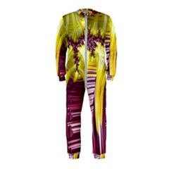Yellow Magenta Abstract Fractal Onepiece Jumpsuit (kids)