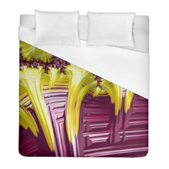 Yellow Magenta Abstract Fractal Duvet Cover (full/ Double Size)