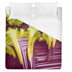 Yellow Magenta Abstract Fractal Duvet Cover (queen Size)