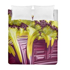Yellow Magenta Abstract Fractal Duvet Cover Double Side (full/ Double Size) by Nexatart