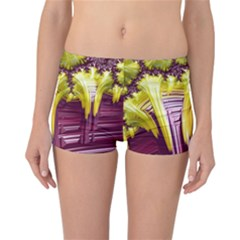 Yellow Magenta Abstract Fractal Reversible Boyleg Bikini Bottoms