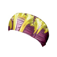 Yellow Magenta Abstract Fractal Yoga Headband