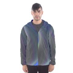 Gloom Background Abstract Dim Hooded Wind Breaker (men)