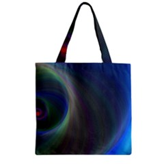 Gloom Background Abstract Dim Zipper Grocery Tote Bag
