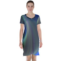 Gloom Background Abstract Dim Short Sleeve Nightdress by Nexatart