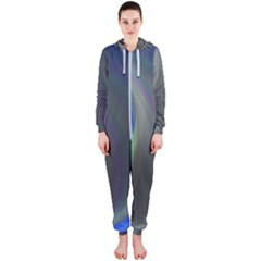 Gloom Background Abstract Dim Hooded Jumpsuit (ladies)