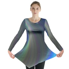 Gloom Background Abstract Dim Long Sleeve Tunic