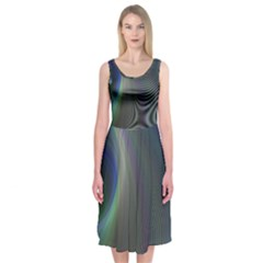 Gloom Background Abstract Dim Midi Sleeveless Dress