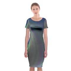 Gloom Background Abstract Dim Classic Short Sleeve Midi Dress by Nexatart