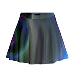 Gloom Background Abstract Dim Mini Flare Skirt by Nexatart