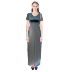 Gloom Background Abstract Dim Short Sleeve Maxi Dress by Nexatart