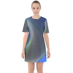 Gloom Background Abstract Dim Sixties Short Sleeve Mini Dress by Nexatart