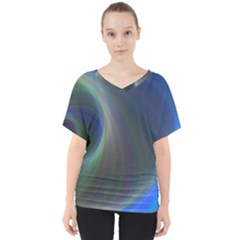 Gloom Background Abstract Dim V Neck Dolman Drape Top by Nexatart