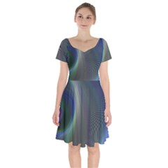 Gloom Background Abstract Dim Short Sleeve Bardot Dress by Nexatart