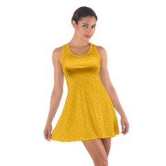 Texture Background Pattern Cotton Racerback Dress