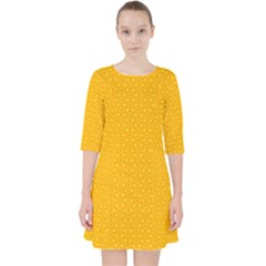 Texture Background Pattern Pocket Dress