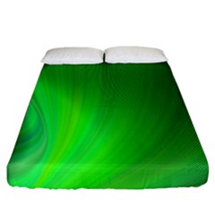 Green Background Abstract Color Fitted Sheet (california King Size)
