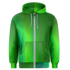 Green Background Abstract Color Men s Zipper Hoodie
