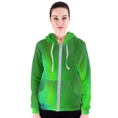 Green Background Abstract Color Women s Zipper Hoodie