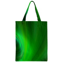 Green Background Abstract Color Zipper Classic Tote Bag by Nexatart