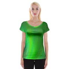 Green Background Abstract Color Cap Sleeve Tops