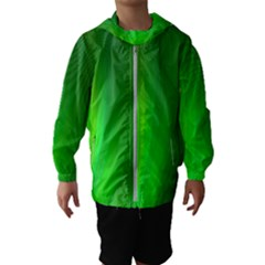 Green Background Abstract Color Hooded Wind Breaker (kids)