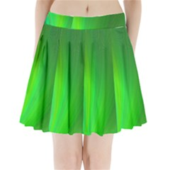 Green Background Abstract Color Pleated Mini Skirt by Nexatart