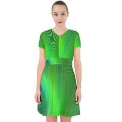 Green Background Abstract Color Adorable In Chiffon Dress