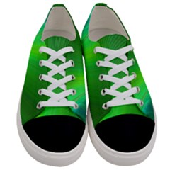 Green Background Abstract Color Women s Low Top Canvas Sneakers