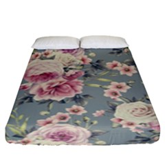 Pink Flower Seamless Design Floral Fitted Sheet (king Size)