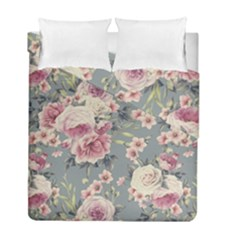 Pink Flower Seamless Design Floral Duvet Cover Double Side (full/ Double Size)