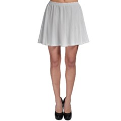 White Background Abstract Light Skater Skirt