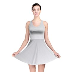 White Background Abstract Light Reversible Skater Dress
