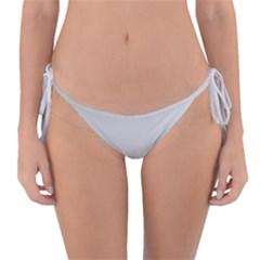 White Background Abstract Light Reversible Bikini Bottom