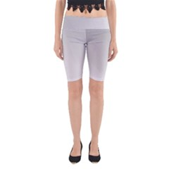 White Background Abstract Light Yoga Cropped Leggings