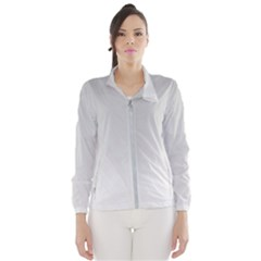 White Background Abstract Light Wind Breaker (women)