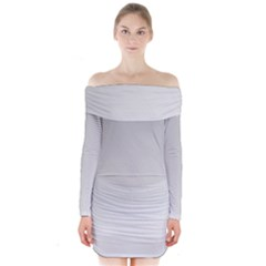 White Background Abstract Light Long Sleeve Off Shoulder Dress