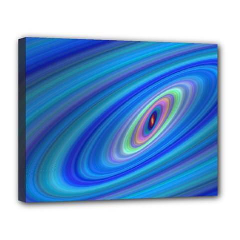 Oval Ellipse Fractal Galaxy Canvas 14  X 11