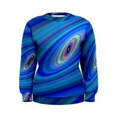 Oval Ellipse Fractal Galaxy Women s Sweatshirt