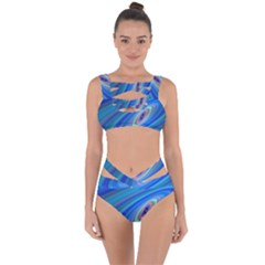Oval Ellipse Fractal Galaxy Bandaged Up Bikini Set