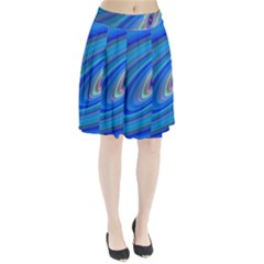 Oval Ellipse Fractal Galaxy Pleated Skirt