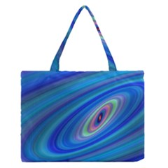 Oval Ellipse Fractal Galaxy Zipper Medium Tote Bag