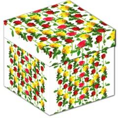 Rose Pattern Roses Background Image Storage Stool 12   by Nexatart