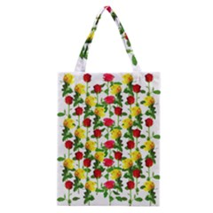 Rose Pattern Roses Background Image Classic Tote Bag