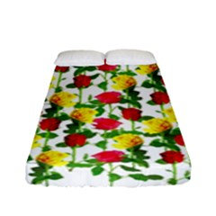 Rose Pattern Roses Background Image Fitted Sheet (full/ Double Size)